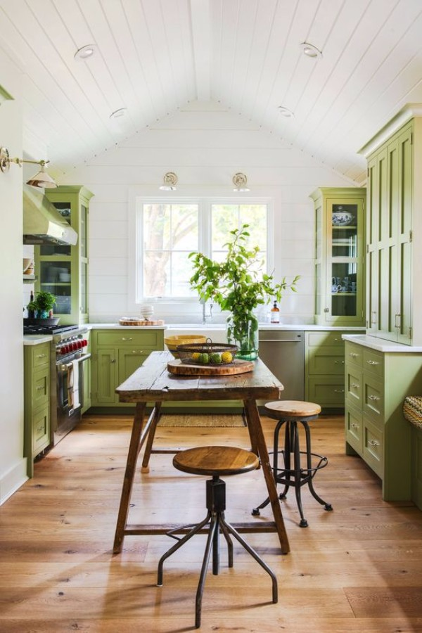 Доступный интерьер кухни своими руками 76