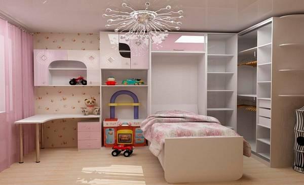 Шкаф кровать в детской, фото 5
