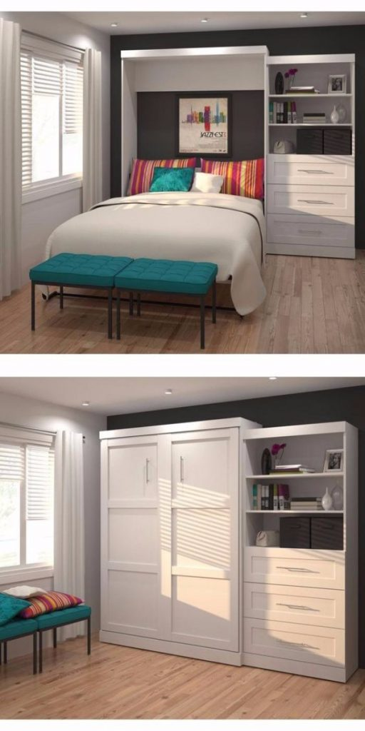Откидная кровать встроенная в шкаф, фото 1