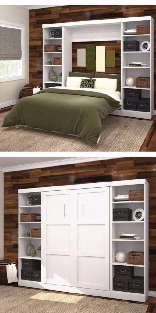 откидная кровать встроенная в шкаф, фото 3