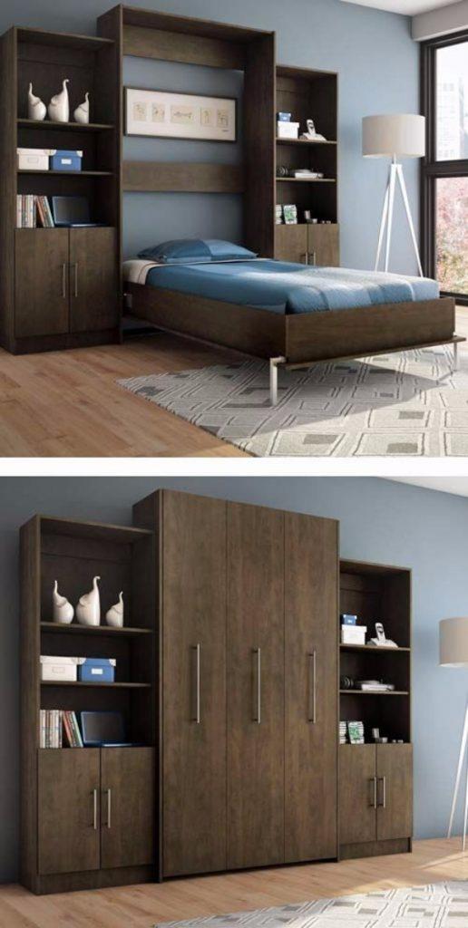 откидная кровать встроенная в шкаф, фото 5