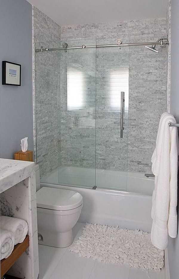 стеклянная штора для ванной, фото 4
