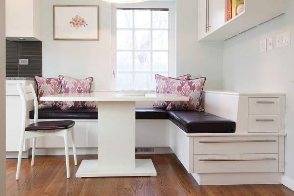 удобный угловой диван на кухню