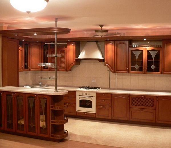 угловые кухни из дерева, фото 2
