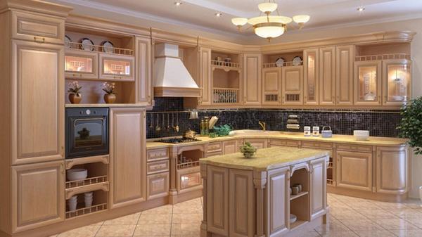 угловые кухни из дерева, фото 3