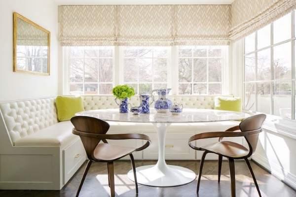 угловой белый диван раскладной на кухню