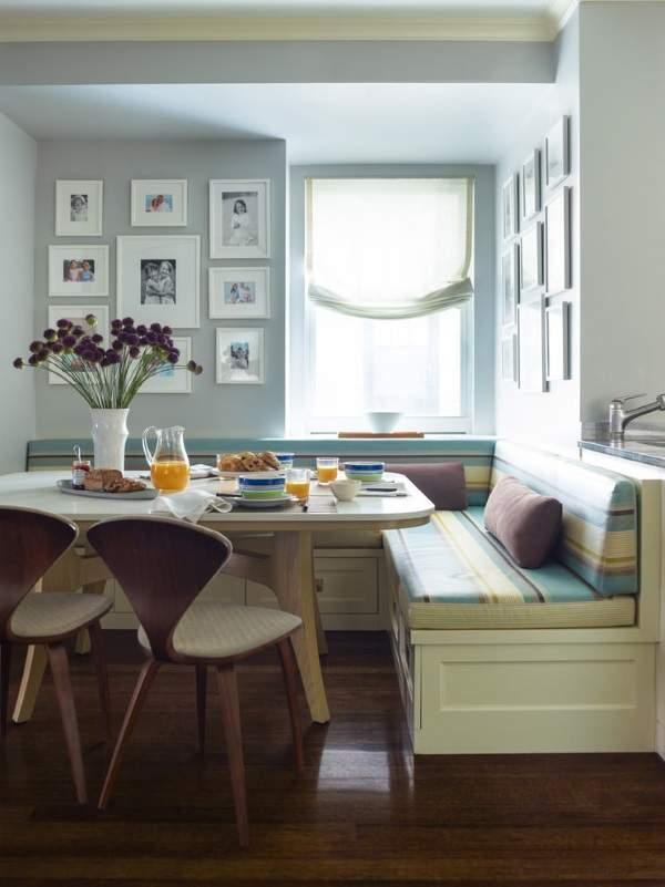 угловой диван на кухне с ящиками