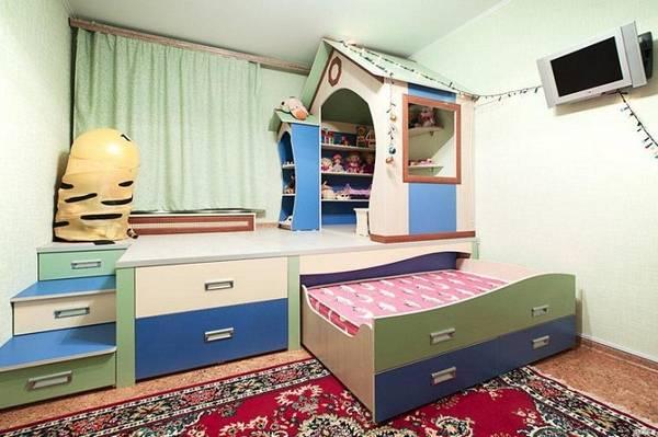 Шкаф кровать в детской, фото 6