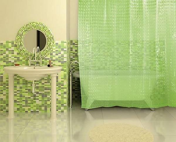 штора для ванной винил, фото 1