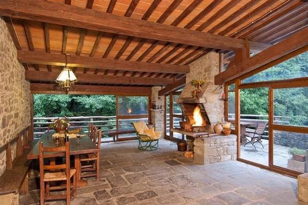 Закрытая веранда на летней кухне, фото 2