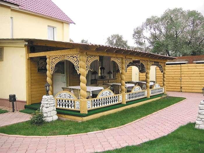 деревянные навесы во дворе частного дома фото, фото 18