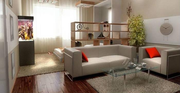 интерьер однокомнатной квартиры фото, фото 1