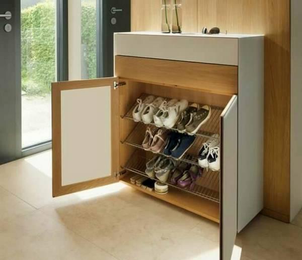 металлическая обувница в прихожую