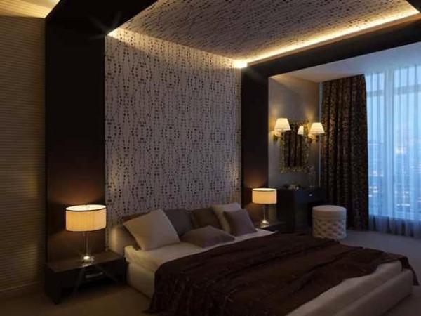 потолок в спальне, фото 37