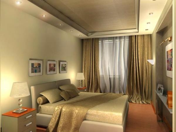 какие потолки в спальне, фото 25