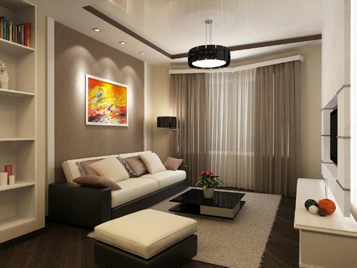 интерьер однокомнатной квартиры в современном стиле, фото 13