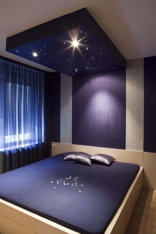 потолок в спальне, фото 26