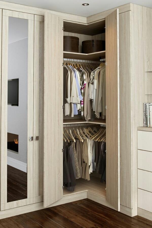 маленькая угловая гардеробная, фото 5