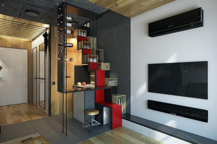 интерьер однокомнатной квартиры 18 кв м фото, фото 14