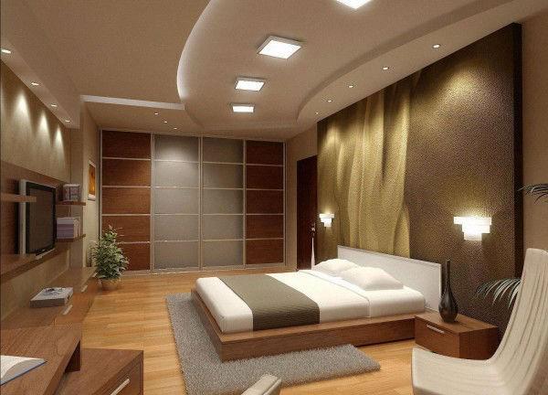 потолок в спальне, фото 27