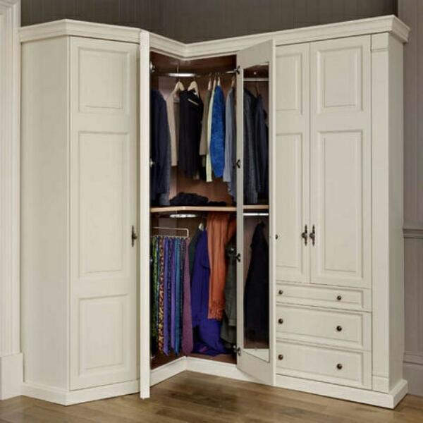 угловая гардеробная в спальне, фото 6