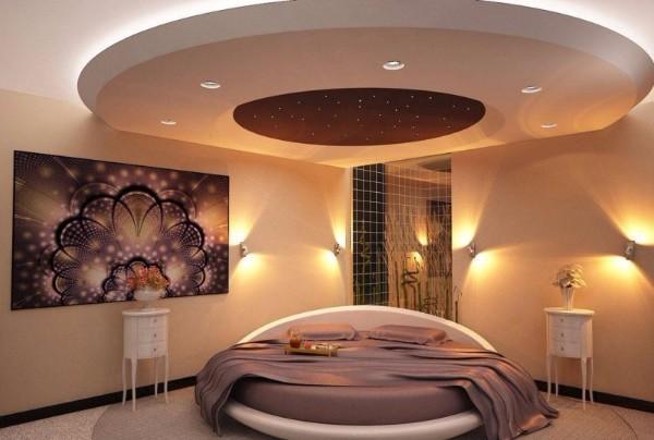 какие потолки в спальне, фото 28