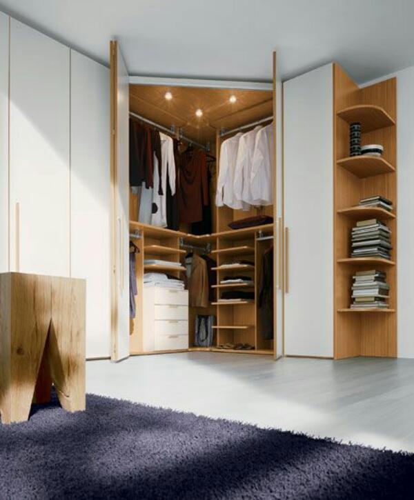 дизайн угловой гардеробной в спальне фото, фото 7
