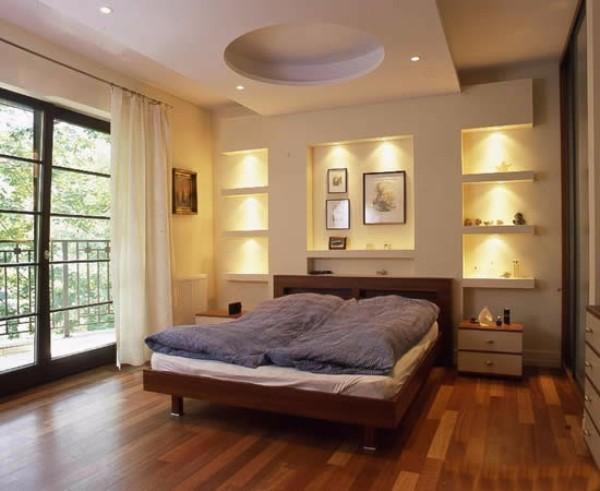 потолок в спальне, фото 29