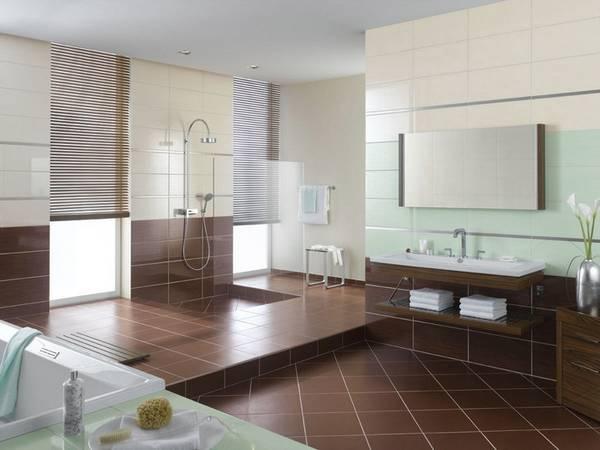 Отделка ванной керамической плиткои, фото 17