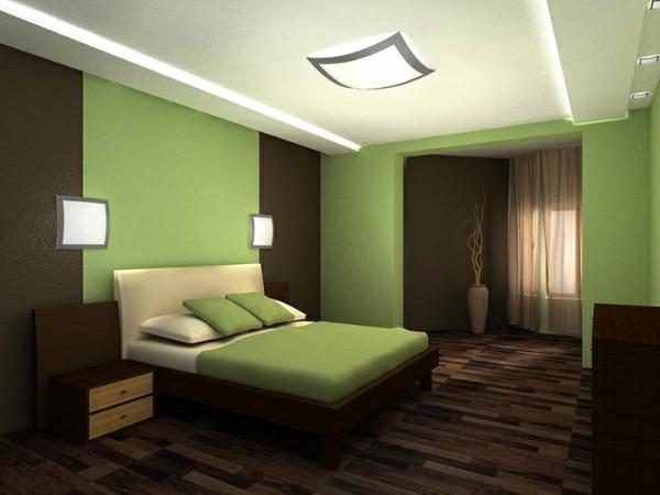 потолок в спальне, фото 30