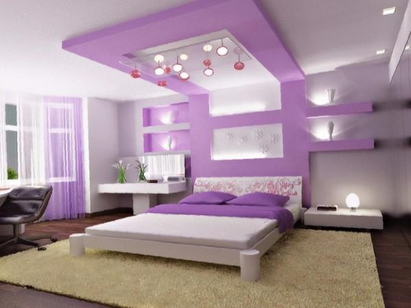 потолок в спальне, фото 31