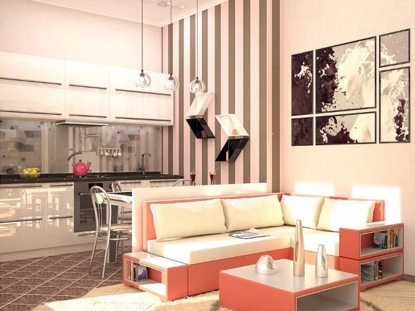 Дизайн маленькой однокомнатной квартиры: идеи для обустройства пространства на 30 фото