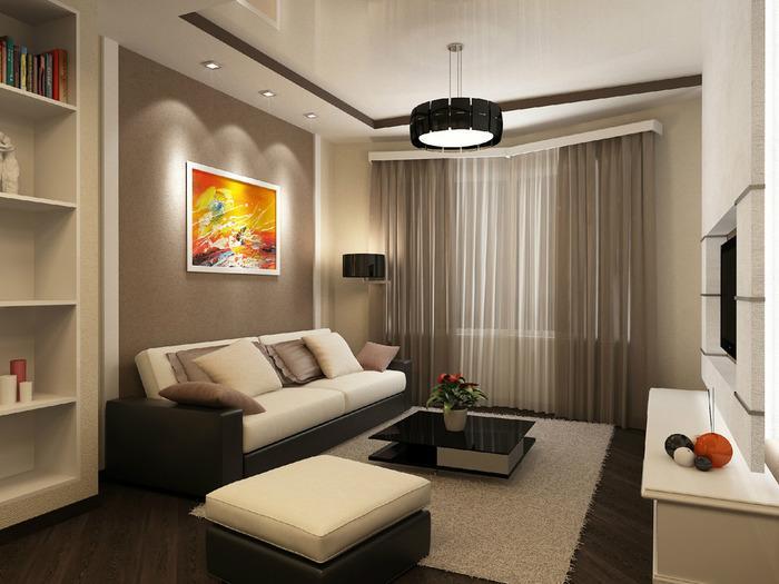 интерьер однокомнатной квартиры фото, фото 2