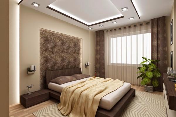 фото потолки в спальне