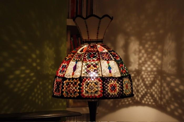 2-vyazanii-abazhur Как сделать настольную лампу своими руками: видеоинструкция от Марата Ка