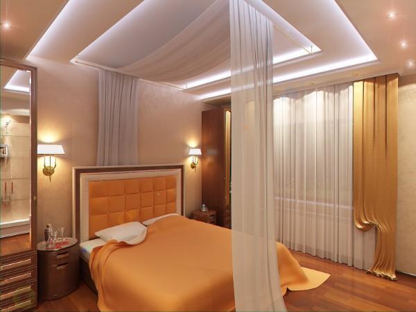 подвесной потолок в спальне фото, фото 33