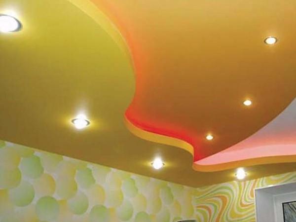 подвесной потолок в спальне фото, фото 34