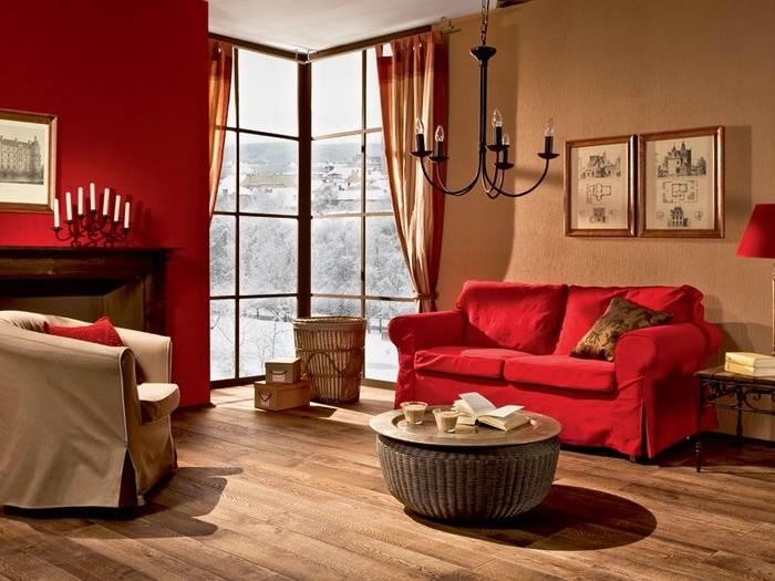 дизайн гостиной с угловым окном фото