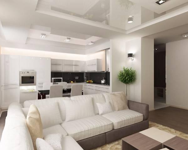 дизайн квартир двухкомнатная 60 м, фото 14