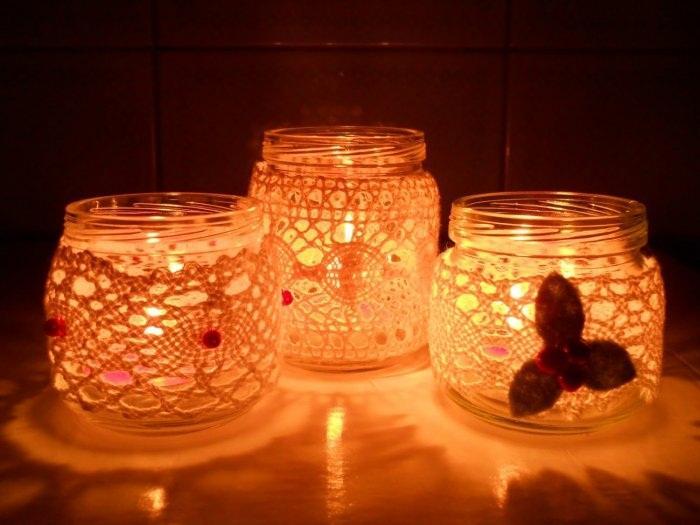 Свечи из банки своими руками