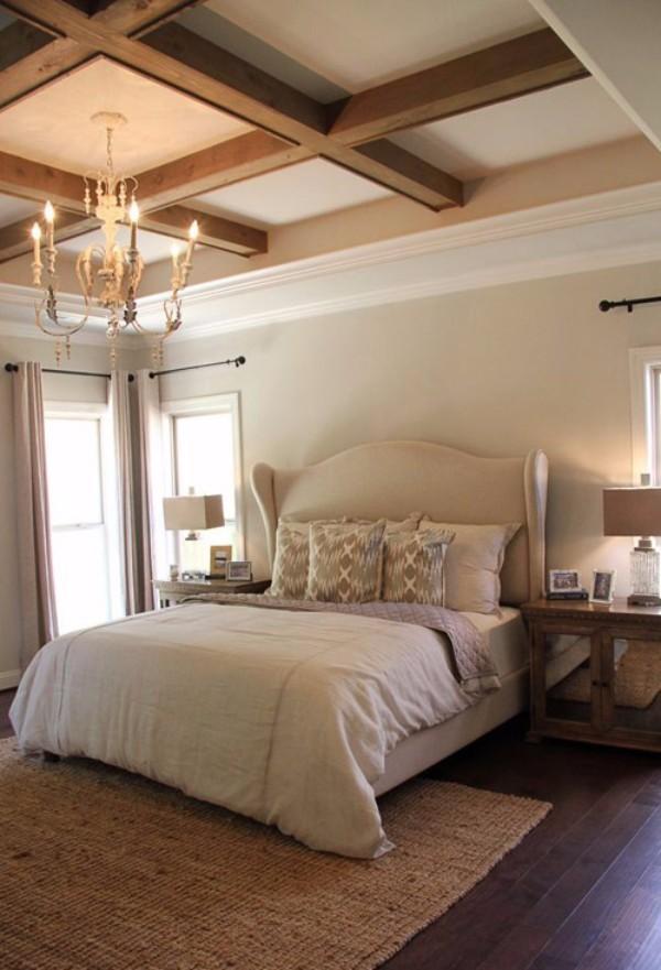 потолки из гипсокартона в спальне, фото 36