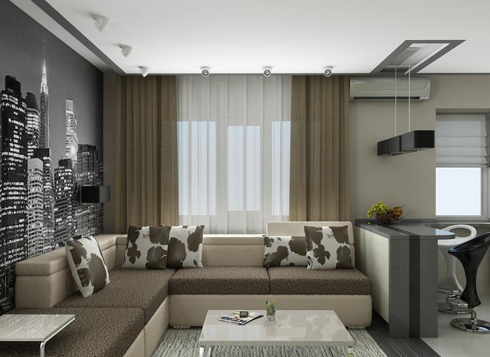 интерьеры однокомнатной квартиры 30 кв м фото, фото 25