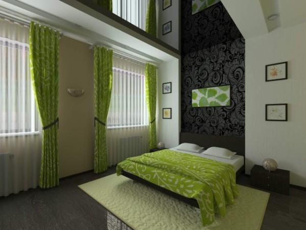 натяжной потолок в спальне, фото 1