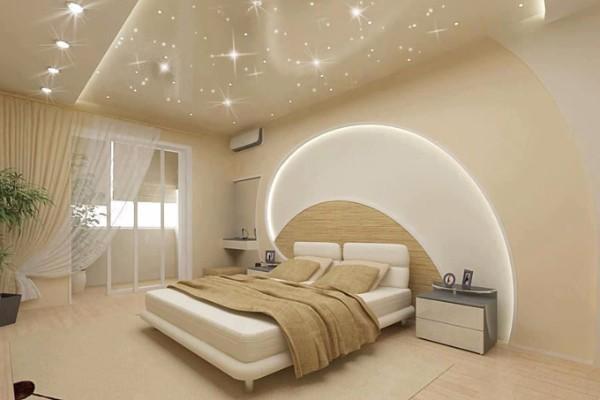 фото натяжных потолков в спальне, фото 2