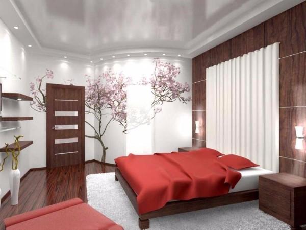 фото натяжных потолков в спальне, фото 4