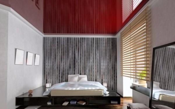 натяжной потолок в спальне, фото 5