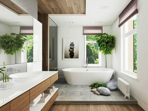 Ванная комната в частном доме дизайн
