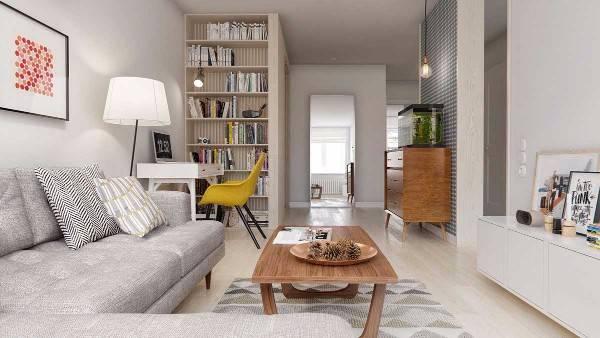дизайн квартир двухкомнатная 60 м, фото 8
