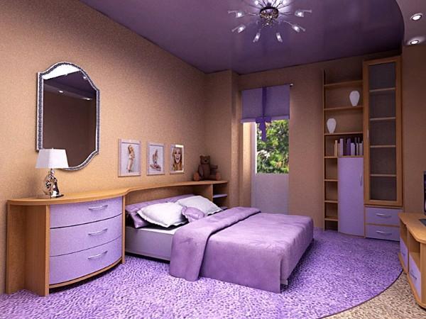 фото натяжных потолков в спальне, фото 6
