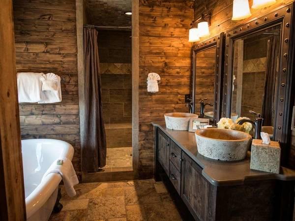 Отделка ванной натуральным деревом, фото 31